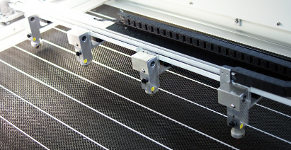 Laser cutting machine four head